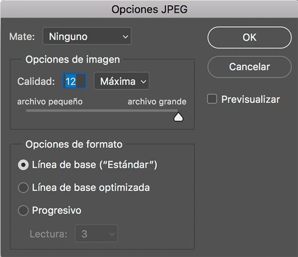 Cómo guardar imágenes en Photoshop en JPG